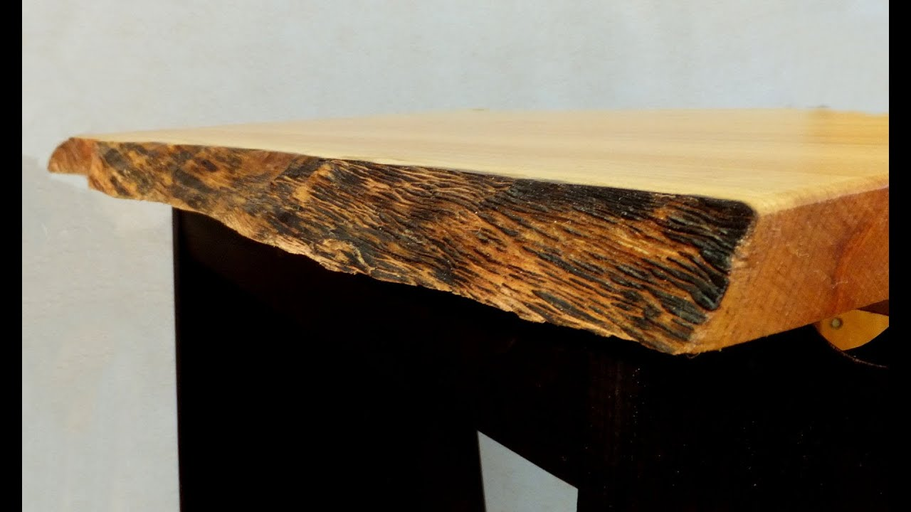 Finishing A Natural Edge Table Top A Woodworkweb Com