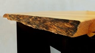 Finishing A Natural Edge Table Top - A Woodworkweb.com Woodworking Video