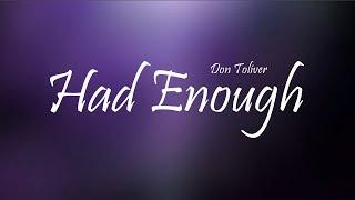Don Toliver - Had Enough Ft. Offset & Quavo (Lyrics)