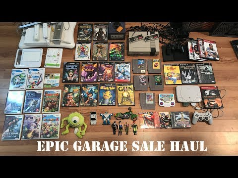 LIVE GARAGE SALE PICKUPS - NES, GameCube, Toys, Rare PS1 RPG