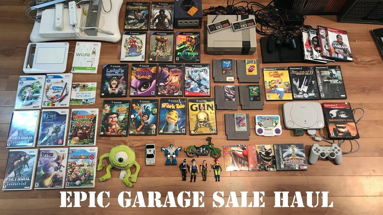 Live Garage Sale Pickups Nes Gamecube Toys Rare Ps1 Rpg