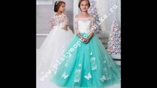 видео нарядные платья для девочек оптом