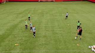 Soccer Coaching Possession Drill: Combination Play