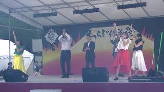 御殿場わらじ大祭でのステージ、 「釣りガール」に細野豪志議員、若林御...