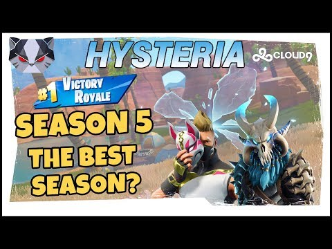 Hysteria | Fortnite Battle Royale - SEASON 5 - The Best Season So Far? Squads with Roxy and Subs