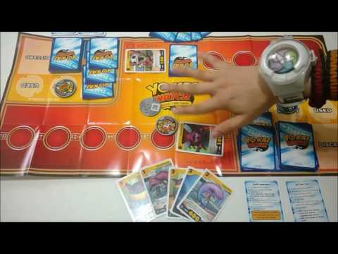 Yo-Kai Watch Trading Card Game Complete Tutorial and Demo Gameplay!!!