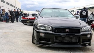 R34 GTR Shuts Down Car Meet!