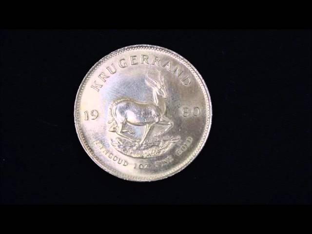 Monedas de oro de inversion , krugerrand, 100 coronas y 20 dolares USA.
