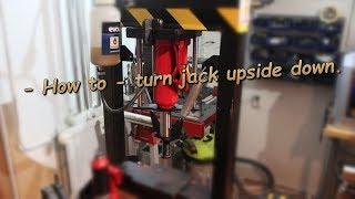 Easiest way to invert hydraulic jack upside down