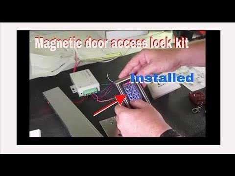 How To Install A Magnetic Door Lock Access Control System