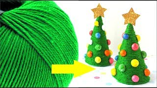 Wool wrapped Christmas Tree very easy for kids- Tuber Tip