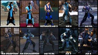 Mortal Kombat SUB-ZERO Graphic Evolution 1992-2015 ARCADE PSX PS2 XBOX PC PC ULTRA