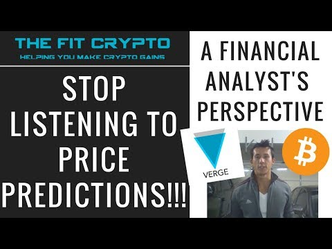 Why You Should NOT Listen to Price Predictions - VERGE & BITCOIN Historical Price Analysis