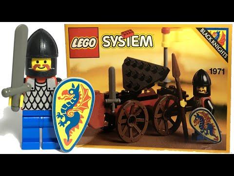 Rare LEGO Castle Black Knights Battering Ram review! 1993 set 1971!