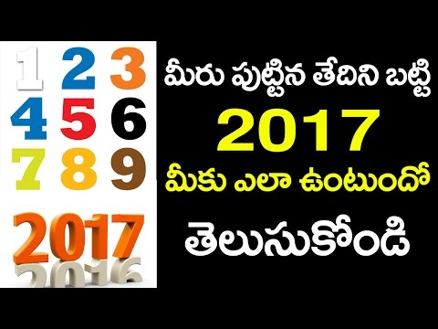 2017 Astrology Based on Numerology | Horoscope Depending on Your Date of Birth | VTube Telugu
