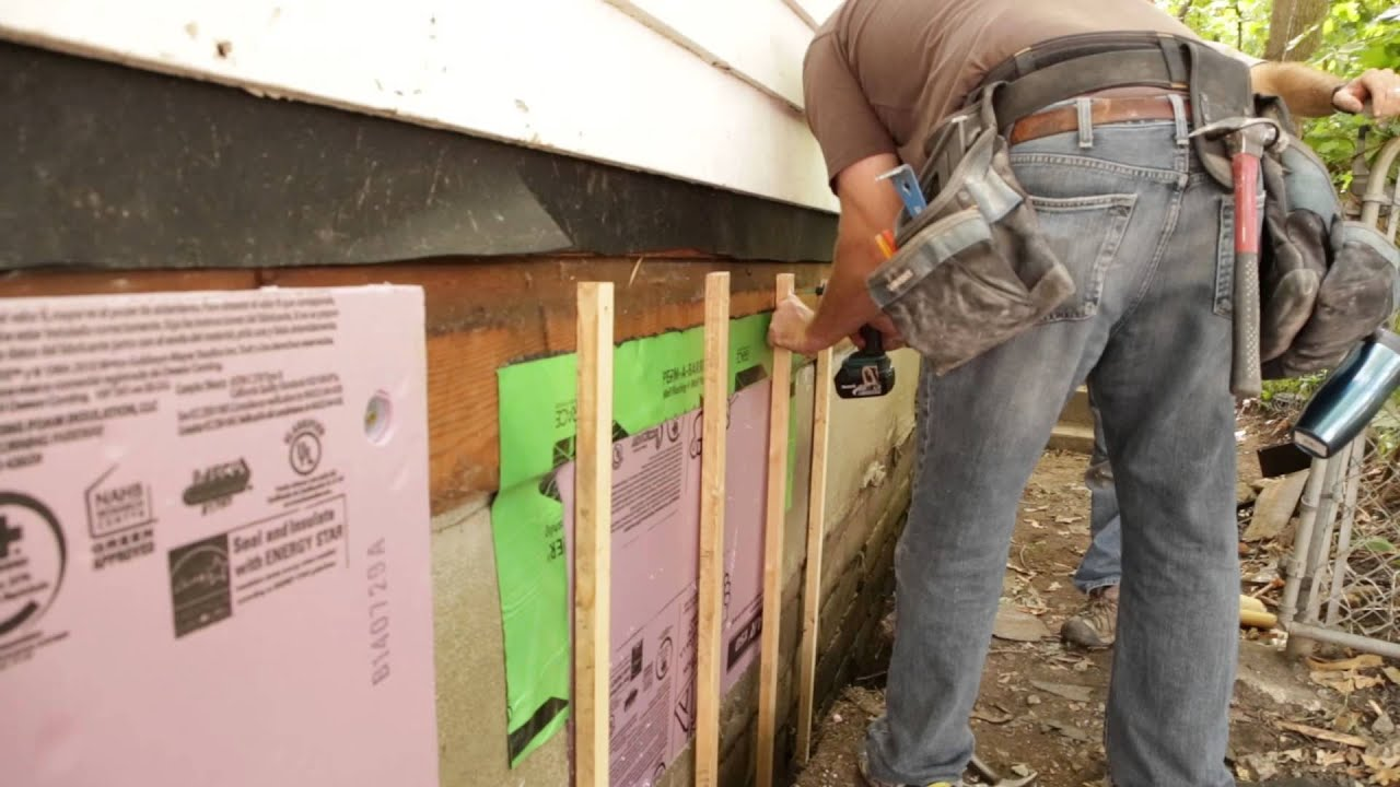 Umn northernstar exterior foundation insulation youtube for Insulating exterior walls in old homes