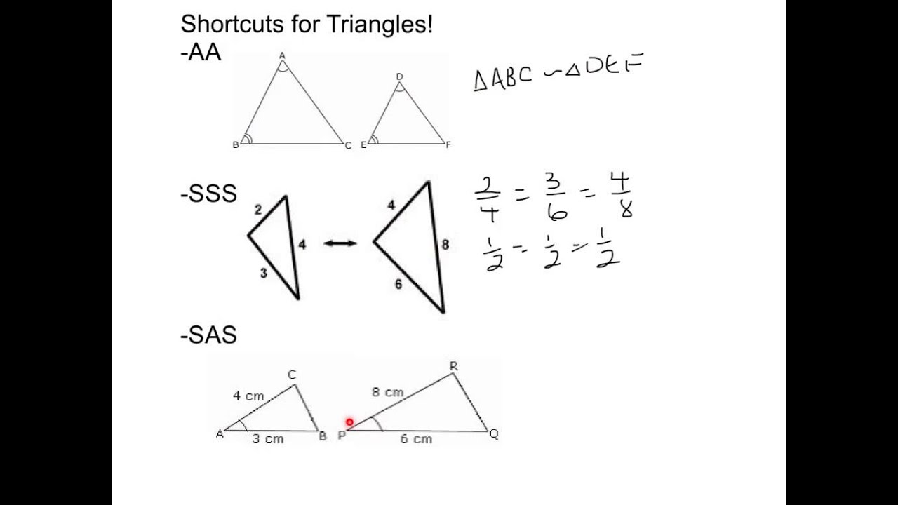 hight resolution of Proving Triangles are Similar (examples