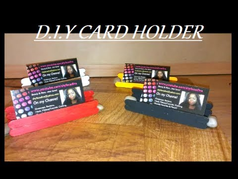 diy businessgift card holder free stand youtube - Diy Business Card Holder
