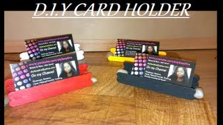 D.i.y Business/gift Card Holder (free Stand)