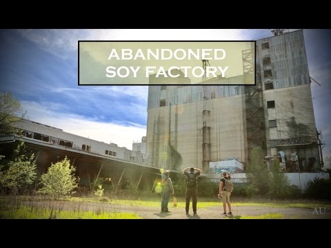 Exploring an ABANDONED Soy Factory (BIGGEST ROOMS WE HAVE BEEN IN YET!!!)
