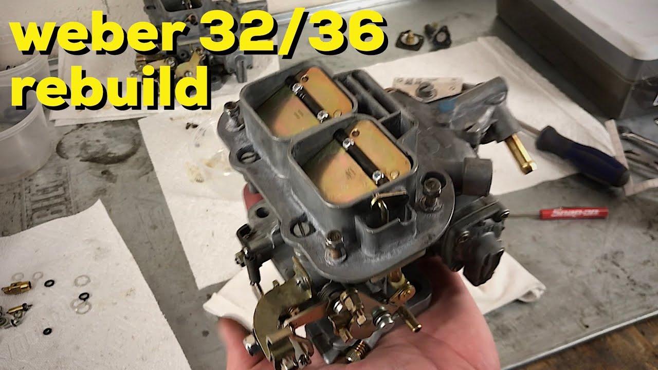 How to rebuild a Weber 32/36 carburetor