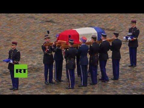 Francia entierra al policía que se cambió por una rehén en el atentado de Trèbes