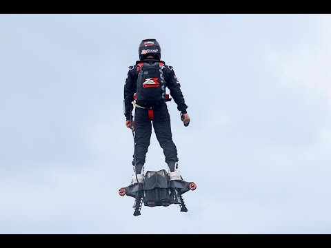 Flyboard® Air Farthest flight by hoverboard (achieved on 30th April 2016 by Franky Zapata)