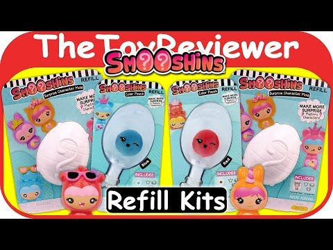 Smooshins Surprise Maker Refill Kits Squishy Girls Dolls Eggs Unboxing Toy Review by TheToyReviewer