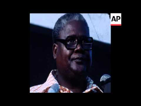 SYND 11 10 76 NATIONAL AFRICAN LEADER NKOMO attends rally INTERVIEW
