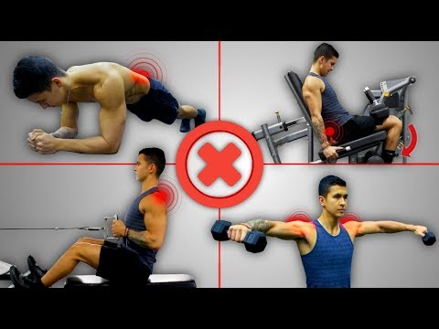 """4 """"Must Do"""" Exercises You're Doing WRONG (Less Gains, More Injury)"""