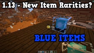 Minecraft 1.13 New Snapshot With New Item Colours??