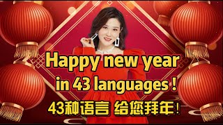 Happy New Year in 43 languages! 用43种语言给您拜年啦!