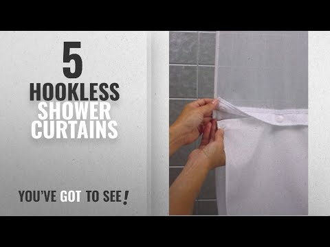 Top 10 Hookless Shower Curtains [2018]: Hookless RBH40BBS01 Snap-In Fabric Liner for Shower Curtains