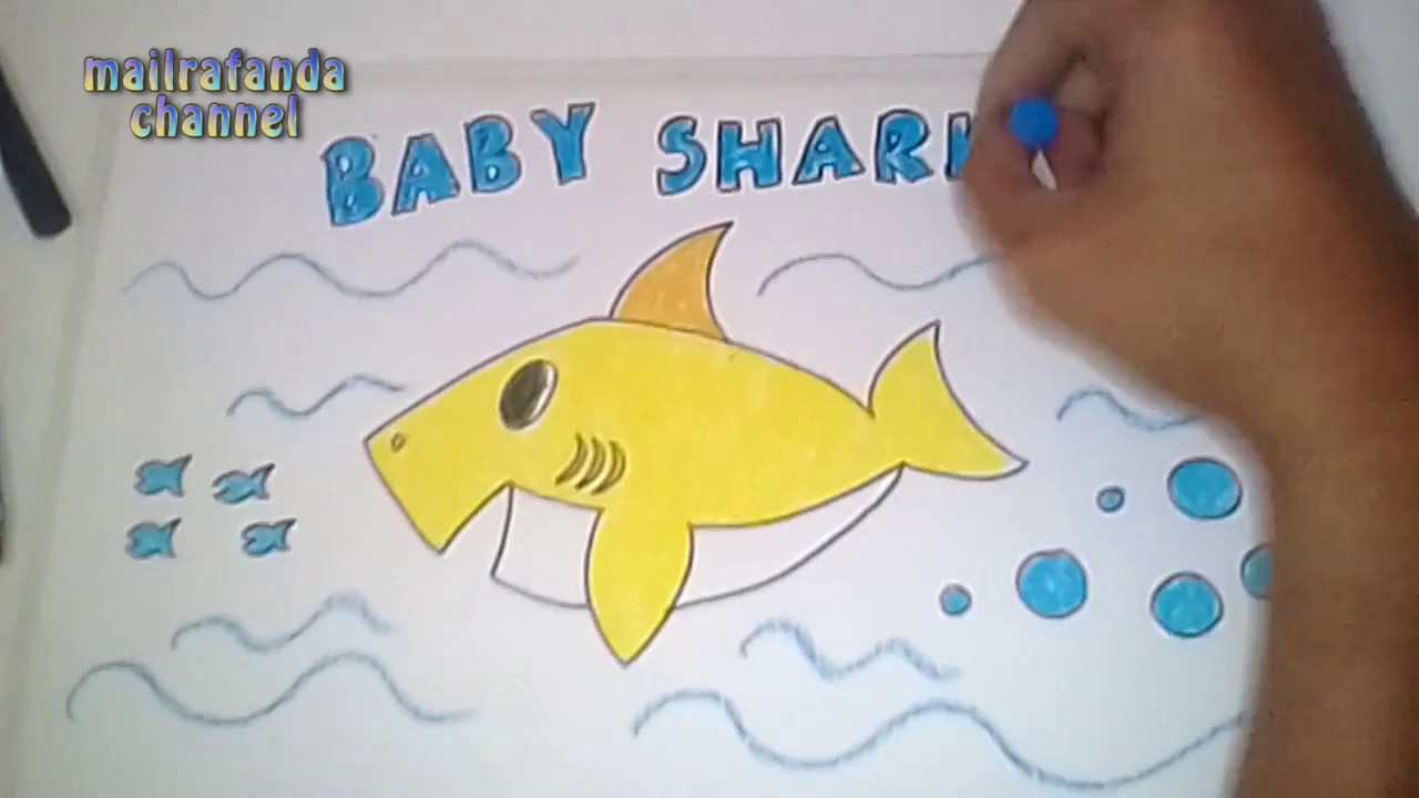 Kumpulan Sketsa Gambar Baby Shark