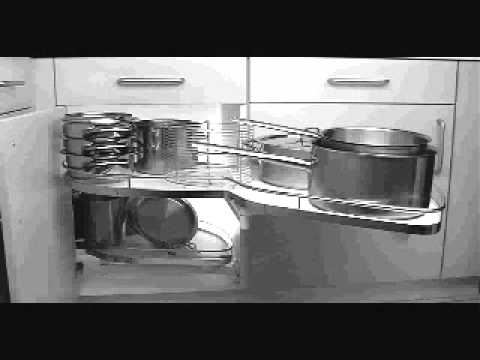 Hafele LeMans Corner Cabinet Organizer  YouTube