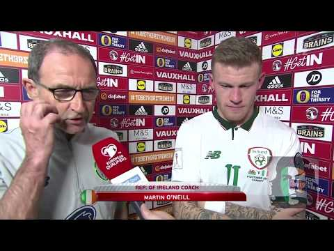 Martin O'Neill & James McClean post match interview Wales 0-1 Ireland