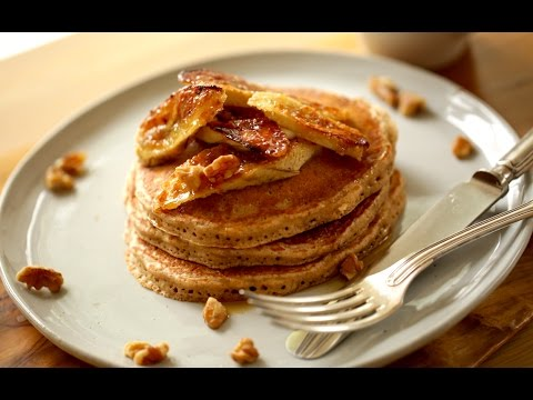 Beth's Whole Wheat Pancakes With Brûléed Bananas | ENTERTAINING WITH BETH