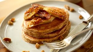 How To Make Whole Wheat Pancakes with Brûléed Bananas | ENTERTAINING WITH BETH