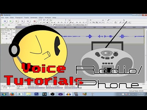 Audacity Voice Effects Tutorials - Radio/Telephone
