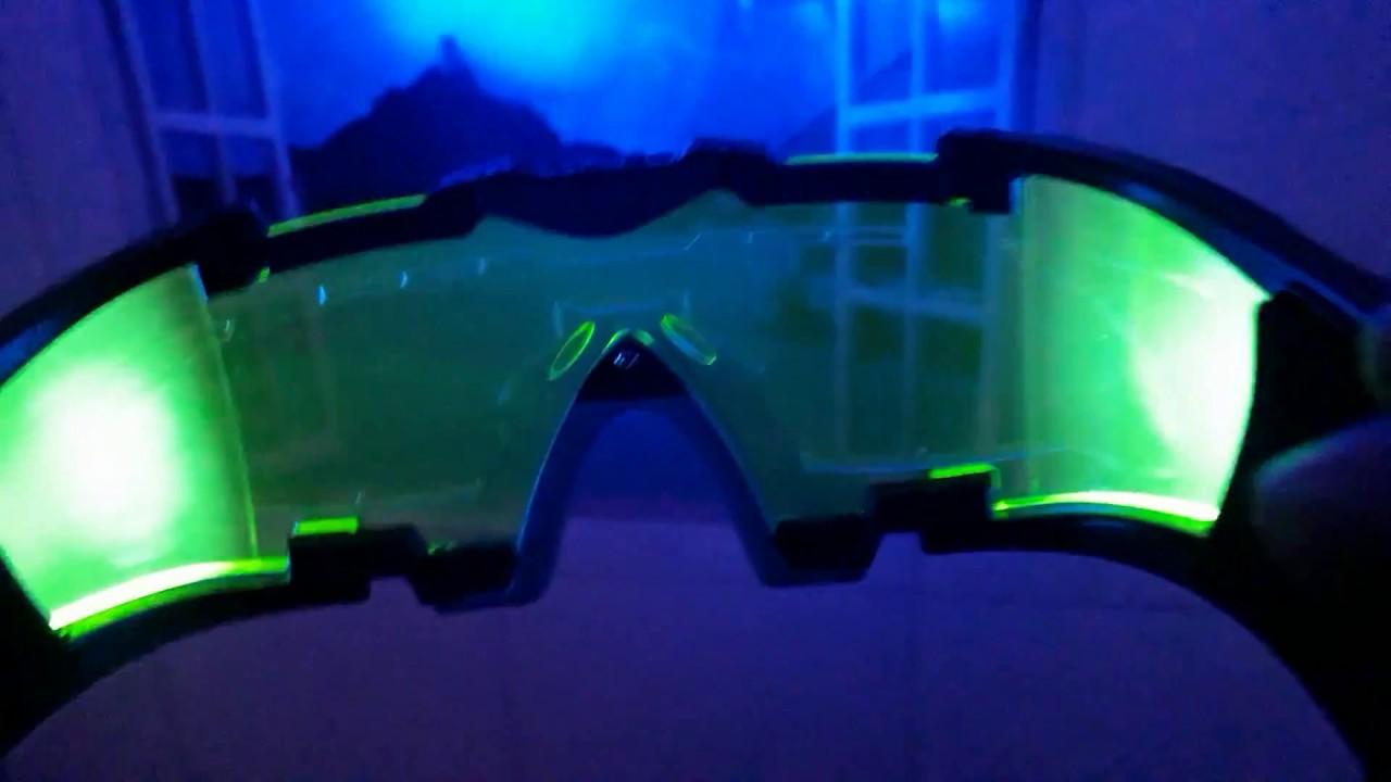 c243f44924424 Óculos Visão Noturna Flip-out Ciclismo Caça C  Leds Laterais - YouTube