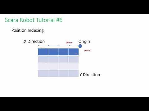 HIWIN Scara Robot Tutorial 6 - Position Indexing