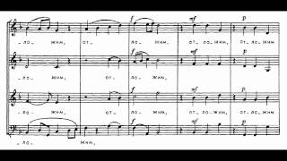 Tchaikovsky 9 Sacred Pieces No. 1 - Cherubic Hymn 1