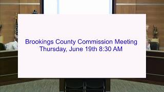 Brookings County Commission 2018-06-19