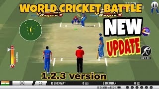 World cricket battle New update version 1.2.3 Android Gameplay