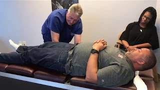 First Time Chiropractic Adjustment for Navy Veteran
