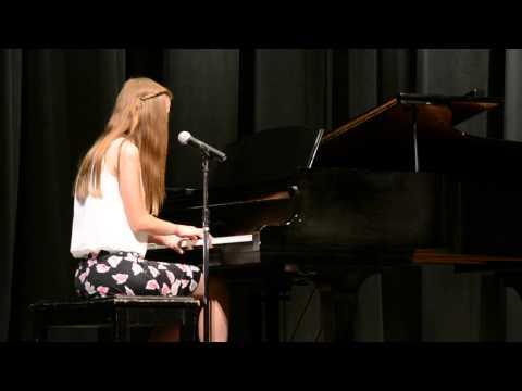 "Hannah Hansen ""Skinny Love"" Elm Street Middle School Talent Show"
