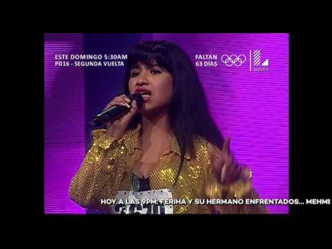 Ella vino desde Bolivia para imitar a Selena y así la calificó el jurado