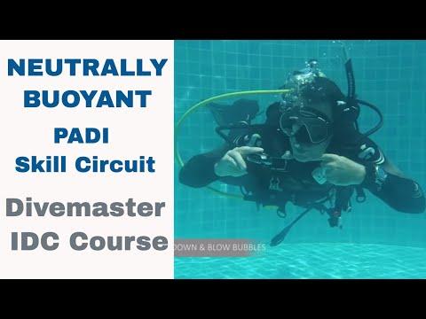 New PADI Skill Circuit Neutral Buoyant - Divemaster and PADI IDC Skills Circuit