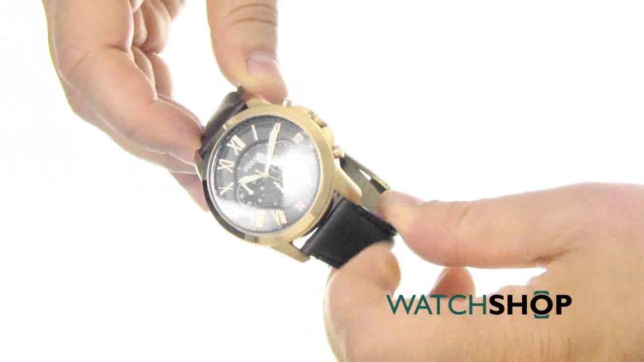 bcda200c0 Fossil Men's Grant Chronograph Watch (FS5068) - YouTube