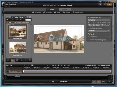 Avid Studio Titel-Editor Hintergrund ein- und ausblenden mit Solo